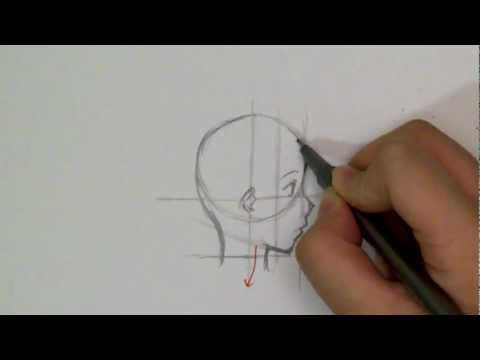How to Draw a Manga Face: Profile View