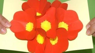 getlinkyoutube.com-Tarjeta Pop-Up Flores 3D - DIY - 3D Flowers Pop up card (eng. sub.)