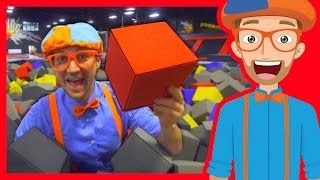 getlinkyoutube.com-The Trampoline Park with Blippi | Learn Colors and more!