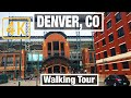 4K City Walks: Denver, Colorado LoDo City Tour - Virtual Walk beginner Treadmill City guide Video