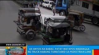 getlinkyoutube.com-BP: 69-anyos na babae, patay matapos mabangga ng truck habang tumatawid sa pedestrian lane