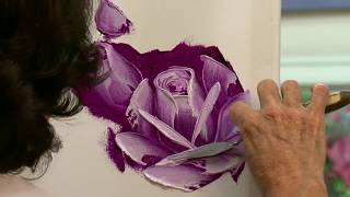 getlinkyoutube.com-Painting Roses in Oil with a Palette Knife in 3 Easy Steps
