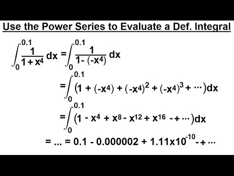 Calculus 2: Infinite Sequences and Series (60 of 86) Power Series to Solve Definite Integral