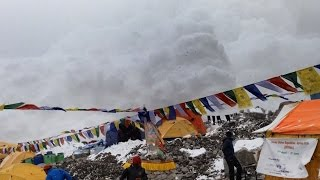 Hit by Avalanche in Everest Basecamp - April 25, 2015