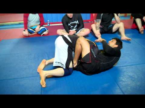 Deep Half Guard Escape to Guillotine - No Gi