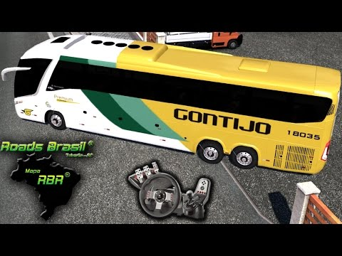 Euro Truck Simulator 2 - Viação Gontijo - Dessa vez, tô simulando - Paradiso G7 - Com Logitech G27