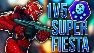 getlinkyoutube.com-1v5 Super Fiesta Challenge! - Halo 5 Guardians