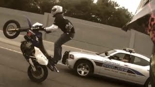 getlinkyoutube.com-Motorcycle Stunts RIDE OF THE CENTURY ROC Bike Vs Police Street Stunt Running From The Cops Runs Cop