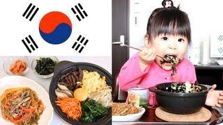getlinkyoutube.com-Rino eating homemade Japchae&Stone scorch Bibimbap