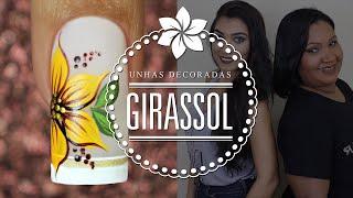 getlinkyoutube.com-Unhas Decoradas Fáceis para Iniciantes (Girassol) | Cola na Villar