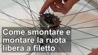 getlinkyoutube.com-Come montare e smontare la ruota libera 1 velocità a filetto della bici TUTORIAL