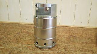 getlinkyoutube.com-397円で作ったウッドガスストーブの燃焼実験!!  ウッドストーブでお湯を沸かしてみる動画