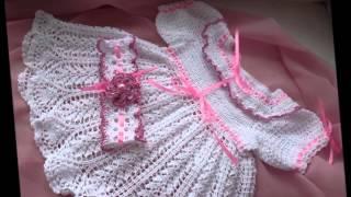 getlinkyoutube.com-Романтичное ажурное крестильное платье    Вязание для девочки