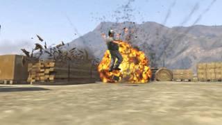 getlinkyoutube.com-Gta V - Explosions [Slow Motion] #1