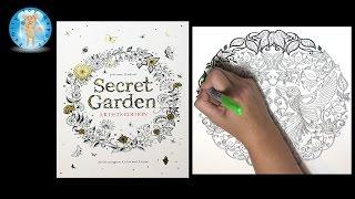 getlinkyoutube.com-Secret Garden Artist's Edition by Johanna Basford Adult Coloring Book Birds - Family Toy Report
