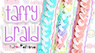 getlinkyoutube.com-NEW Taffy Braid Rainbow Loom Bracelet Tutorial | How To