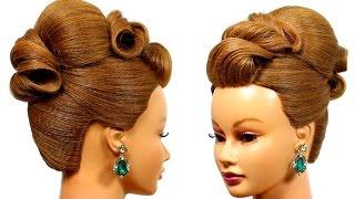 getlinkyoutube.com-Wedding updo. Hairstyle for medium hair