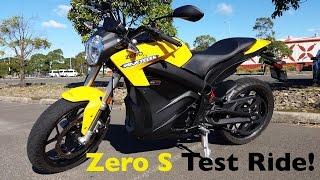 getlinkyoutube.com-Zero S Electric Motorcycle Test Ride | Torque Monster!
