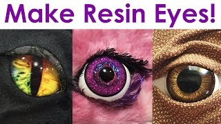 getlinkyoutube.com-How-To Make Realistic + Fantasy Resin Eyes for jewelry, costumes, toys, decor