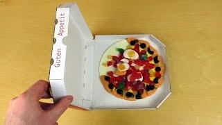 getlinkyoutube.com-Candy Gummy Pizza vs. Real Pizza