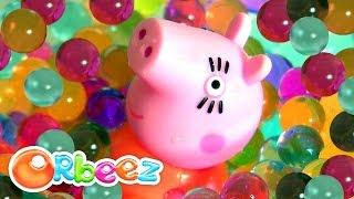 getlinkyoutube.com-Planeta Orbeez com a Peppa Pig 1800 Bolinhas Coloridas de Gel Magico em Portugues BR Bolitas de Gel