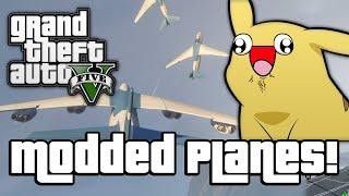 getlinkyoutube.com-GTA V: MODDED PLANES! (GTA 5 Next Gen Funny Moments)