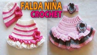 Falda Para Niña Tejidas a Crochet