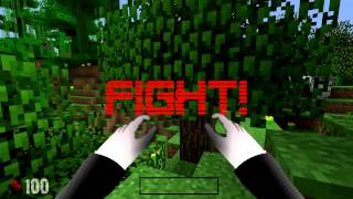 "getlinkyoutube.com-GAME BATTLE - SLENDER VS. MINECRAFT GUY - ""Games mixed up!"" Ep. 3"
