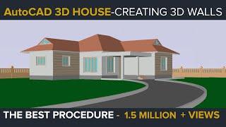 getlinkyoutube.com-AUTOCAD 3D HOUSE PART1 - MAKING 3D WALLS