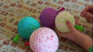 getlinkyoutube.com-Jak zrobić bombki na choinkę ze sznurka i balona?