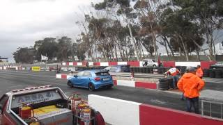 getlinkyoutube.com-VW GOLF R VS MERC A45 AMG Part 2 Killarney Racetrack