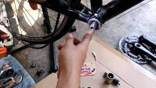 วิธีถอดจานหน้าจักรยาน+กะโหลกแบริ่ง / Line ; bunditkub