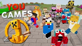 getlinkyoutube.com-YOU GAMES: 30 YOUTUBERS ENFRENTADOS EN JUEGOS DEL HAMBRE | MINECRAFT PVP