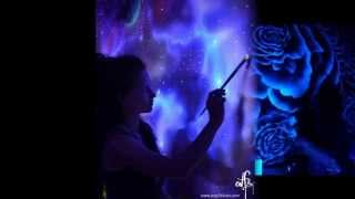 getlinkyoutube.com-When The Lights Go Out, My Glowing Murals Turn These Rooms Into Dreamy Worlds