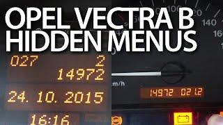 getlinkyoutube.com-How to enter hidden menu in Opel Vectra B (instrument cluster MID display Vauxhall)