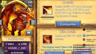 getlinkyoutube.com-Castle Clash - Evolve Moltanica & 10 Star This Crazy Dragon