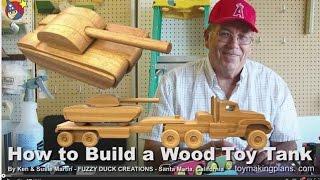 getlinkyoutube.com-Wood Toy Plans - Make a Wood Toy Tank