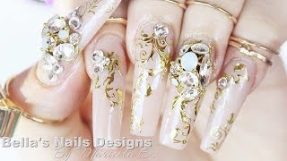 Acrylic Nails: Arabian wedding nails