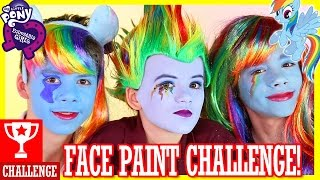 getlinkyoutube.com-MY LITTLE PONY RAINBOW DASH FACE PAINT CHALLENGE!  |  KITTIESMAMA