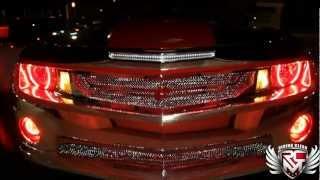 """getlinkyoutube.com-Forgiato """"King Camaro"""" Chrome w/ Red Chrome Interior Riding Clean"""