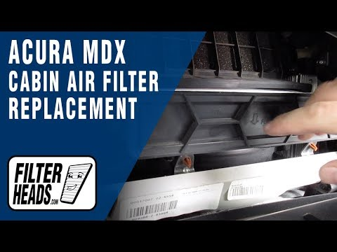 How to Replace Cabin Air Filter 2009 Acura MDX
