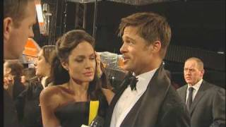 getlinkyoutube.com-Brad and Angelina on the red carpet at the BAFTAs