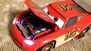 getlinkyoutube.com-Custom Lightning McQueen 1:18 by Pixar Jay Ward Series DisneyPixarCars Collection by ToyCollector