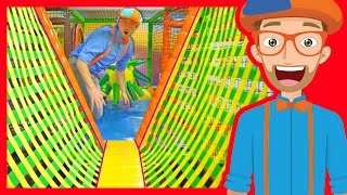 The Indoor Playground with Blippi | Learn Colors and more!