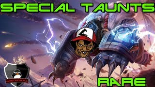getlinkyoutube.com-LoL - Special and Rare Taunts!