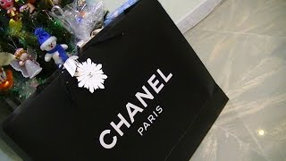 getlinkyoutube.com-Unboxing Boy Chanel Flap Bag Large Calfskin Caviar Leather ~ popcornday