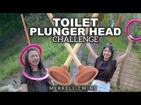 Toilet Plunger Head Challenge - Merrell Twins
