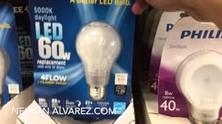 Comprando Bombillas LED para ahorrar energía