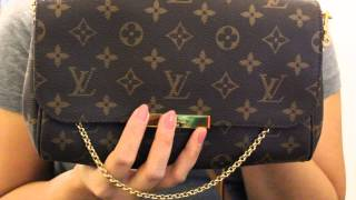 getlinkyoutube.com-Louis Vuitton Favorite MM mini review