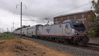 getlinkyoutube.com-Amtrak Keystone Corridor: Superliners, Pennsylvanian and Keystone Service